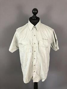 WRANGLER-Retro-Short-Sleeved-Shirt-Large-Beige-Great-Condition-Men-s