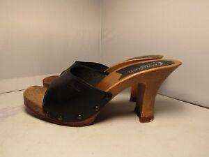 00645565ffd Vintage 80 s Candies Original Sandals Blue High Heels Slides Sexy 8 ...