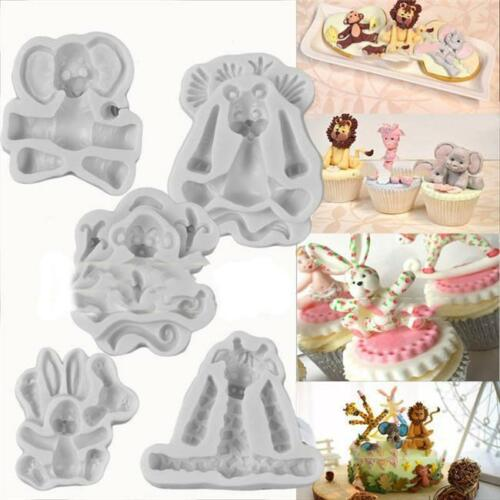 Baby 3D Animal Silicone Fondant Chocolate Mould Cake Decor Icing Sugarcraft Mold