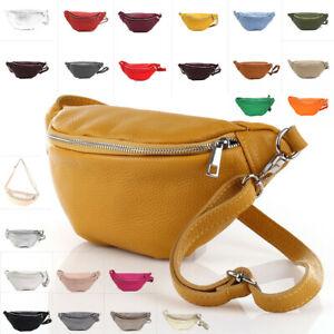 Blogger Cross Body Bag Umhänge Tasche Bauchtasche LederGürteltasche Hüfttasche