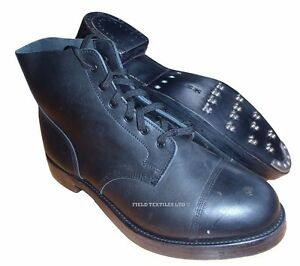 british army black ammo parade boots shoes grade one size 14m