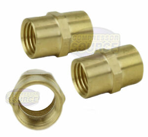 3-Pack-1-4-034-Female-NPT-Brass-Pipe-Coupler-Union-WOG-Air-Fuel-Connector-Fitting