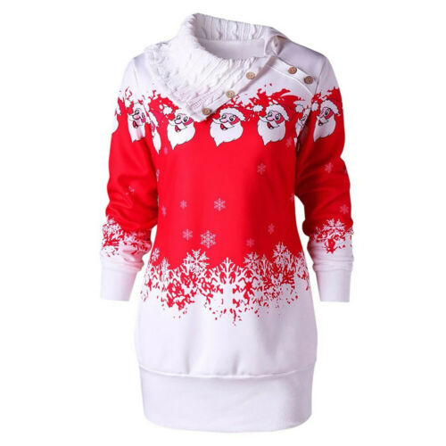 Women/'s Christmas Casual Dresses Long Sleeve Slim Fashion Pullover Casual Skirt