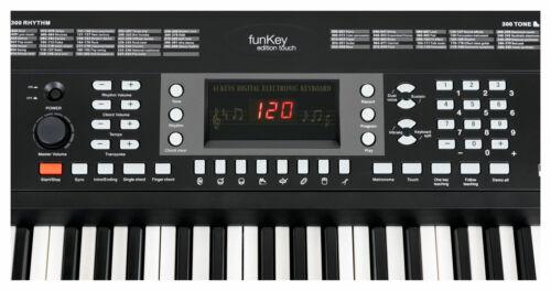 Zeitloses Keyboard mit Anschlagdynamik /& toller Einsteiger Lernfunktion schwarz