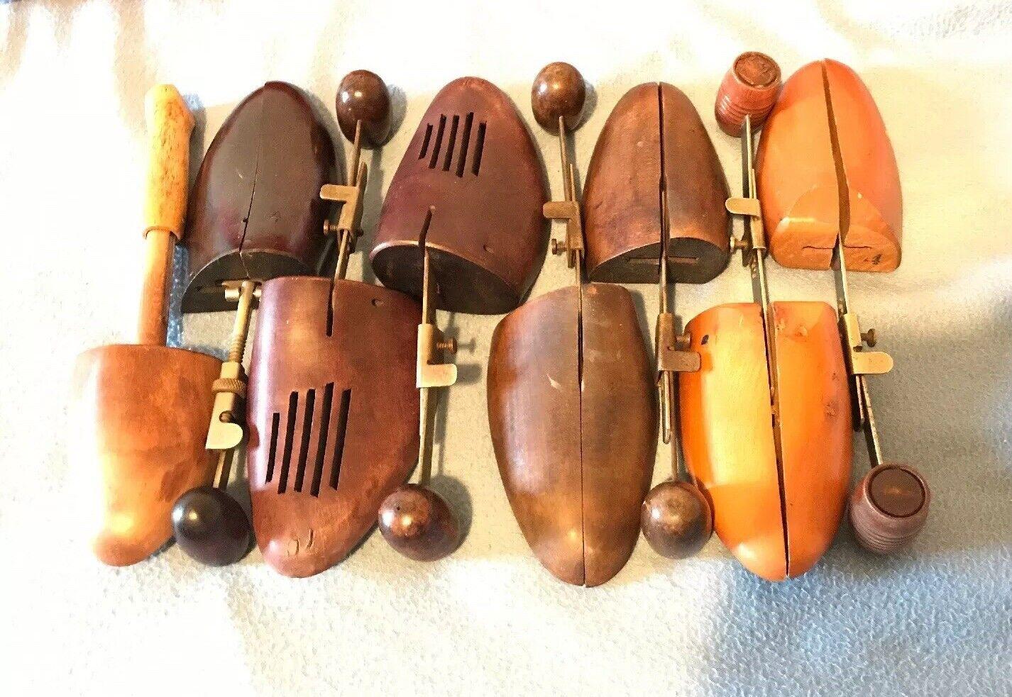 Vintage Antique Lot of 8 Wooden schuhe Stretchers Toe Forms Molds Men damen GUC