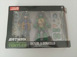 DC-Batman-vs-Teenage-Mutant-Ninja-Turtle-TMNT-Batgirl-amp-Donatello-2-Pack