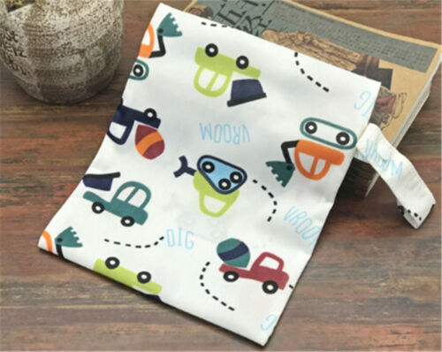 Wet Dry Bag Baby Cloth Diaper Nappy Zipper Bag Reusable With Two Pocket SP BHCA
