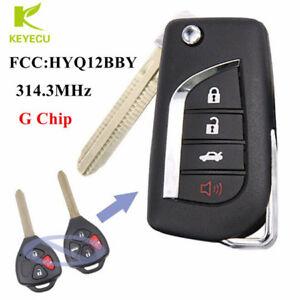 modify flip remote key fob 314 3mhz g chip for toyota rav4 yaris fcc