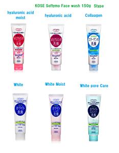 Kose-Softymo-Face-Wash-Foam-6-type-hyaluronic-acid-Collagen-pore-care-White