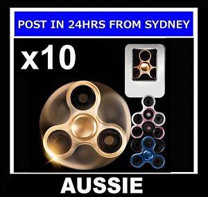10-SET-FULL-METAL-TRI-FIDGET-SPINNER-SPINNERS-Alloy-Aluminium-Hand-Finger