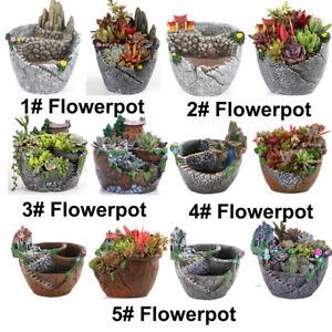Flowerpot-Resin-Flower-Pot-Planter-Succulent-Plant-Garden-Bonsai-Pots-Home-Decor