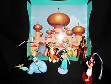 Disney Authentic Aladdin Christmas Ornament Figures 7pc Set Genie Jasmine Carpet