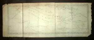 PAPOUASIE-NOUVELLE-GUINEE-Nv-IRLANDE-nv-BRETAGNE-carte-Gravure-James-COOK-1774