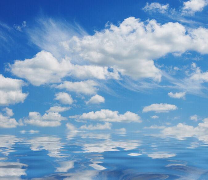 3D Weiß Cloud water2201 Paper Wall Print Decal Wall Wall Murals AJ WALLPAPER GB