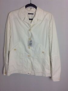 Cp de la authentique société Blazer 12 avec Nouveau £ glacée étiquettes Taille 305 Rrp blanche les Crème nqxH4qtw