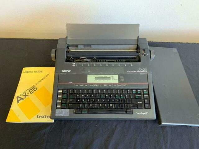 Brother AX-25 Electronic Typewriter word spell check LCD screen user manual w/wa