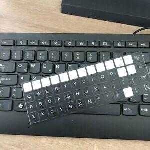 Details about Keyboard Sticker Black English Keyboard Sticker US UK  Keyboard character sticker