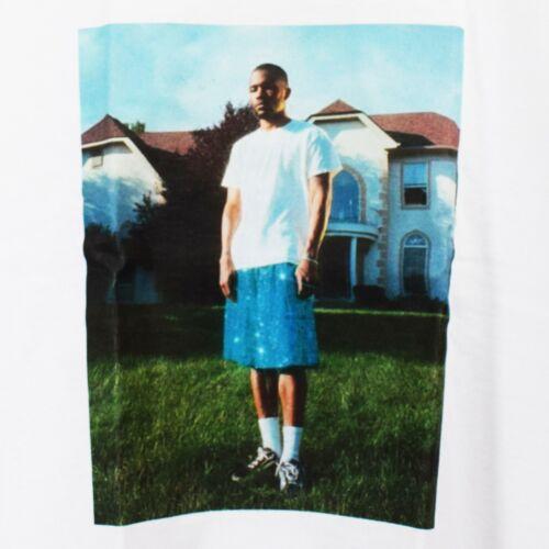 Actual Fact Frank Ocean Glitter Blue Shorts T-shirt Hip Hop Rap White Tee