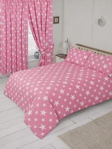 Lovely-Pink-And-White-Stars-Single-Duvet-Cover-Bedding-Set-Stars-Theme-Design