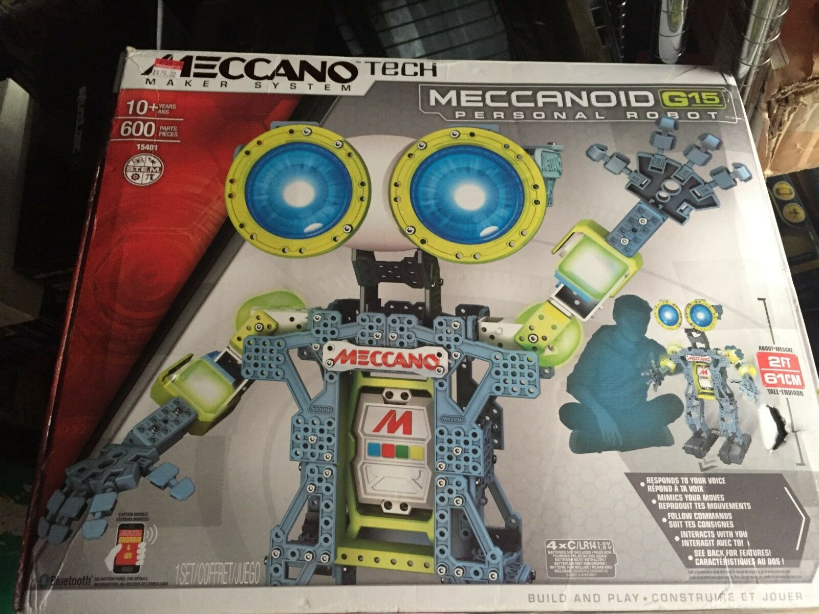 MECCANOID G15 PERSONAL ROBOT Meccano Tech INTERACTIVE Building Set 15401 NEW