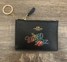 Coach Wizard of Oz Mini SKINNY ID Card Case Motif Coin Wallet Black 77967B