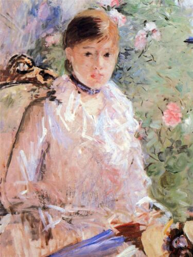 OLD ART PAINTING PRINT 398OMA BERTHE MORISOT SUMMER YOUNG WOMAN AT WINDOW