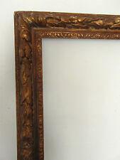 cadre ancien doré  XIXe style LXIII  feuill : 69,4 X 58,4 cm Frame frame Rahmen