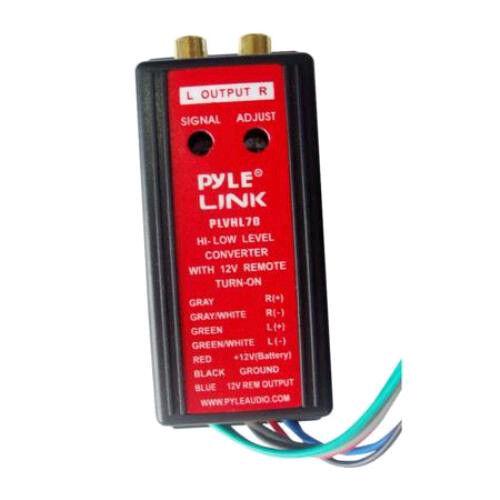 NEW Speaker Line Input Converter.Add Amplifer To stock Car Stereo Sound System.
