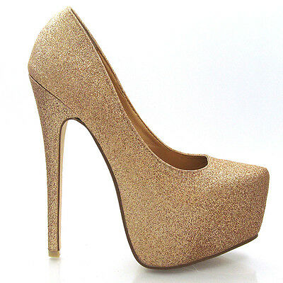 NEW WOMENS CONCEALED PLATFORM LADIES STILETTO HIGH HEELS COURT SHOES SIZE 3-8