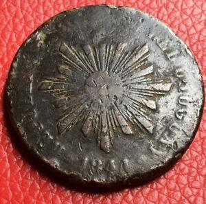 Monnaie-Kupfer-Uruguay-40-Centesimos-1844