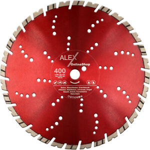 Diamant-Trennscheibe-400-x-25-4-mm-Granit-Borde-Beton-passend-fuer-GOLZ-MS-400