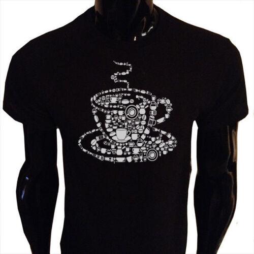 Coffee T-Shirt Mens S-5XL SCREENPRINTED Caffeine Java Morning CF3
