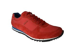 release date: ec96c 60bd8 Details about New Authentic Leather PRADA Mens Shoes Sneakers Schuhe Scarpe  US9.5 EU42.5 UK8.5