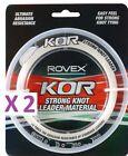 2 Pack ROVEX KOR LEADER TOUGH TRACE 30LB 100M FISHING LINE MONOFILAMENT
