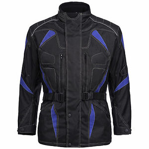 Giacca-moto-uomo-giacca-tessile-cordura-ROLLER-NERO-BLU-TAGLIA-M-fino-a-6xl-777