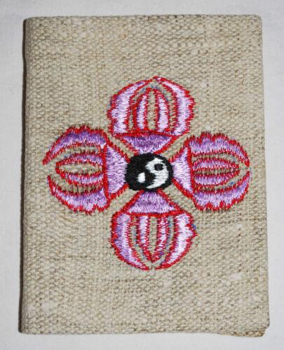 New Fair Trade Hemp Cover Notebook Hippy Ethnic Ethical Nepal Om Eyes Ying Yang