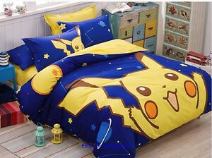 Pokemon Go Pikachu Bedding Comforter Set Queen King