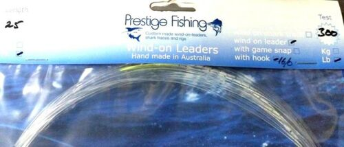 wind on leader 3 x 300lb w// 16//0 Circle  wind on leaders Mono line Game fishing