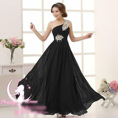 Chiffon Evening Formal Party Ball Gown Prom Bridesmaid Long Dresses Elegant Pop