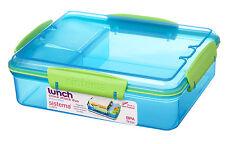 Sistema 975ml Multi Compartment Snack Attack Duo Lunch Box Container Blue
