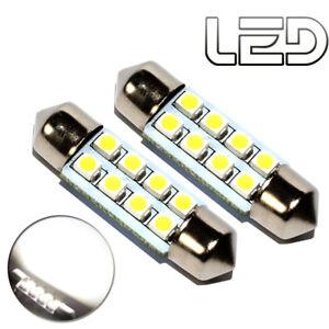 2-Ampoule-navette-c3w-31-mm-31mm-8-LED-SMD-Blanc-Habitacle-Plafonnier-coffre