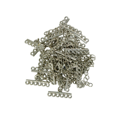 12 Set Lobster Clasp Crimp with Chain Extension DIY Jewelry Findings Crafts