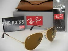 "Ray Ban Unisex ""Aviator"" Sunglasses RB3025/ 001/ 33 Brown B-15 Lens 58 mm"