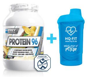 Frey Nutrition Protein 96 750g Eiweiss + Shaker 700 ml Blau
