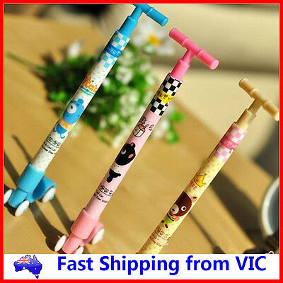 Scooter Ball Pen Novelty Kids Toys School Office Gift Cute Cartoon Stationery