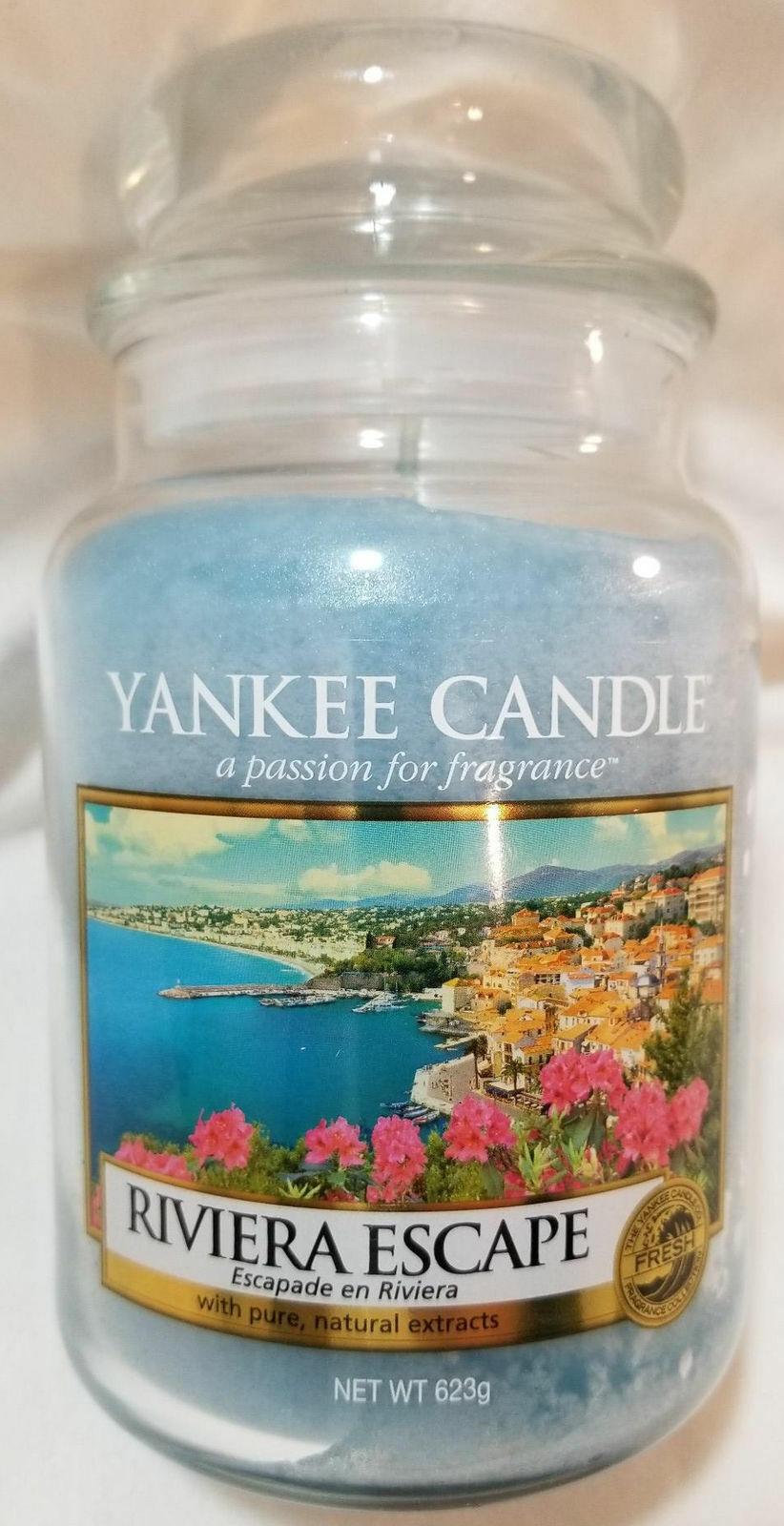 Yankee Candle MEDITERRANEAN BREEZE Large Perfect Pillar Blue 1-wick New Wax
