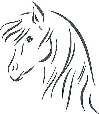 20 cm Aufkleber Autoaufkleber Pferd horse Folie Folienaufkleber Tribal Tattoo M2