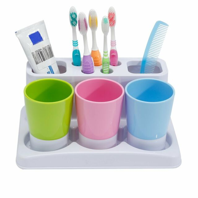 Ee Toothbrush Toothpaste Holder Stand For Bathroom Storage Organizer