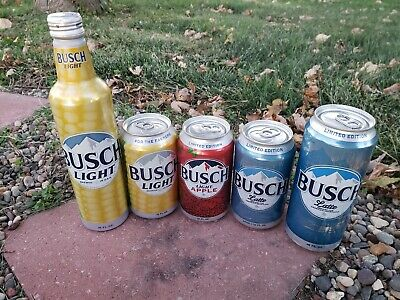 BUSCH LIGHT APPLE LIMITED CHEAP  ALUMINUM BEER CAN CANS CLAS DOW