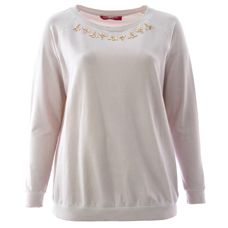 MARINA RINALDI Women's Pink Obelo Embellished Sweater  NWT